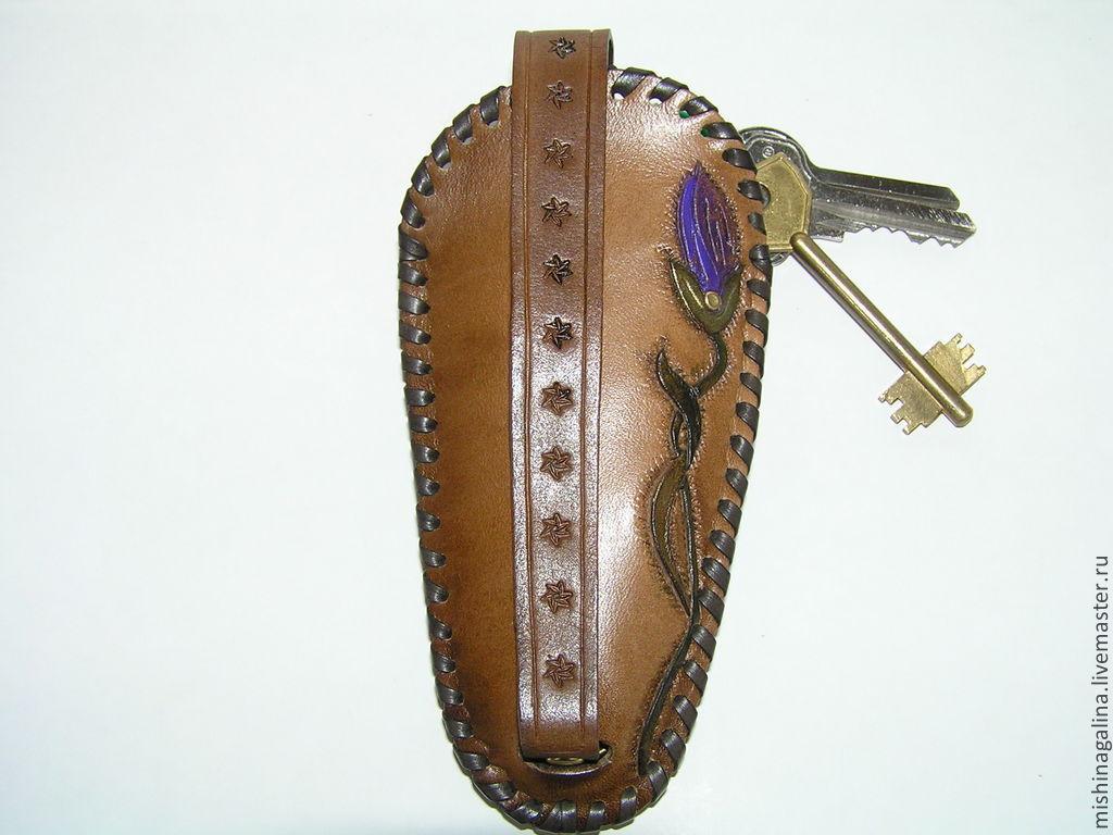 """Футляр для ключей из натуральной кожи.""""Ирис""""Продан"""