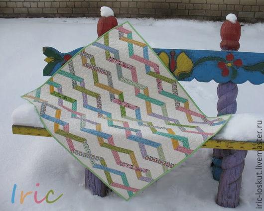 """Пледы и одеяла ручной работы. Ярмарка Мастеров - ручная работа. Купить Детское одеялко """"Хитросплетения"""". Handmade. Печворк, лоскутное одеяло"""