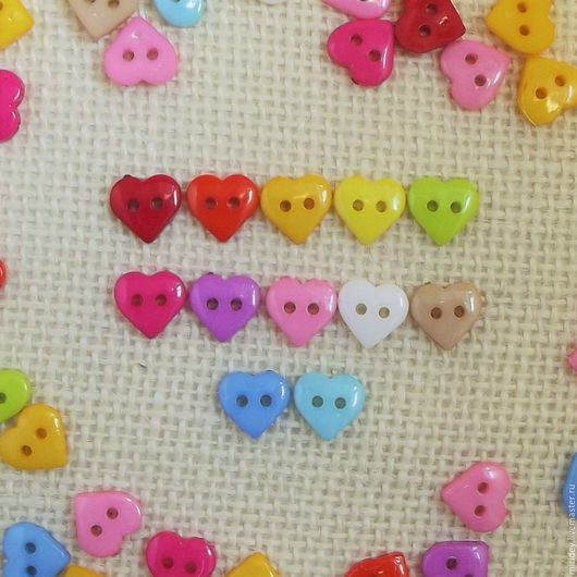 """Шитье ручной работы. Ярмарка Мастеров - ручная работа. Купить Мини пуговицы """"Сердце"""" 10,5 мм. Handmade."""
