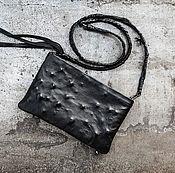 метеоритный дождь, кожаная сумка, сумка из кожи, клатч