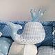 """Пледы и одеяла ручной работы. Ярмарка Мастеров - ручная работа. Купить Матрасик на пеленальный столик """"Blue ocean"""". Handmade. Голубой"""