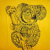 Одежда handmade. Livemaster - original item T-shirt  hand painted Koala. Handmade.
