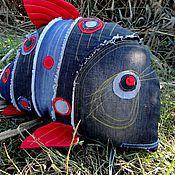 Сувениры и подарки handmade. Livemaster - original item Pillow Fish - Jeans. Handmade.