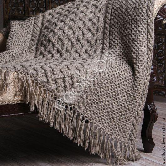 Текстиль, ковры ручной работы. Ярмарка Мастеров - ручная работа. Купить Плед Викинг серый. Handmade. Плед, плед вязаный