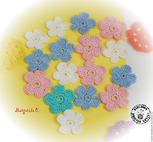 Цветы ручной работы. Ярмарка Мастеров - ручная работа. Купить Цветочки вязаные крючком. Handmade. Цветочки, цветок вязаный
