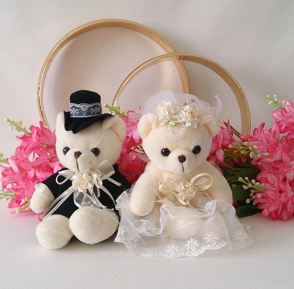 Мишки жених и невеста своими руками