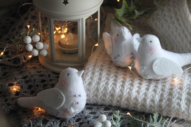 Новогодние птички в стиле Тильда, Новогодние сувениры, Екатеринбург,  Фото №1