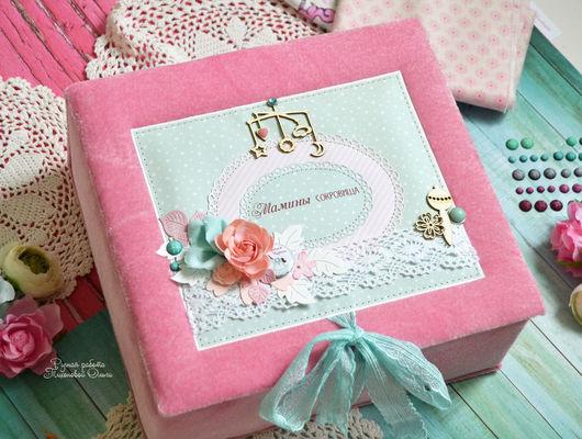 купить мамины сокровища, подарок новорожденному, подарок на крестины, розовый, мятно-розовый, мамины сокровища розовые, мамины сокровища в подарок, подарок на 8 марта, сокровищница