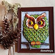 Картины и панно ручной работы. Ярмарка Мастеров - ручная работа Зеленая сова. Handmade.