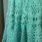Одежда ручной работы. Ярмарка Мастеров - ручная работа Вязаная юбка-солнце мятная из мохера. Handmade.