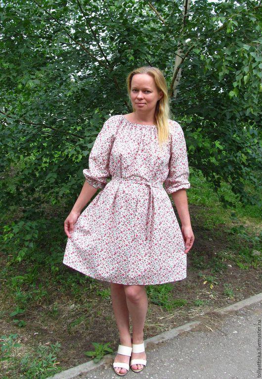"""Платья ручной работы. Ярмарка Мастеров - ручная работа. Купить Летнее платье """"Цветочное"""". Handmade. Комбинированный, цветочный принт"""