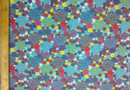 Ткань курточная Дюспо `Мелкие цветочки`