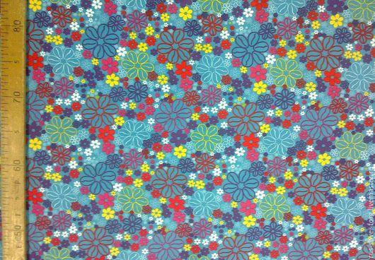 Ткань курточная 240Т PONGEE WR PU MILKY. Рисунок `Мелкие цветочки`