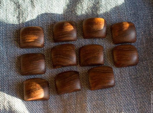 Для украшений ручной работы. Ярмарка Мастеров - ручная работа. Купить Кабошоны из натурального дерева Тик. Handmade. Кабошоны, кабошон