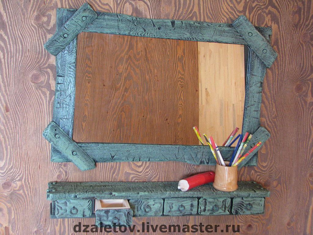 Зеркало с полочками своими руками