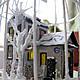 Кукольный дом ручной работы. Ярмарка Мастеров - ручная работа. Купить Зимний дворик. Handmade. Домики, Снег, металл