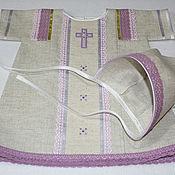 """Платье ручной работы. Ярмарка Мастеров - ручная работа """"Сирень"""" крестильное платье, косынка. Handmade."""