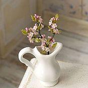 Miniature figurines handmade. Livemaster - original item The branch of cherry blossoms in scale 1/12. Handmade.