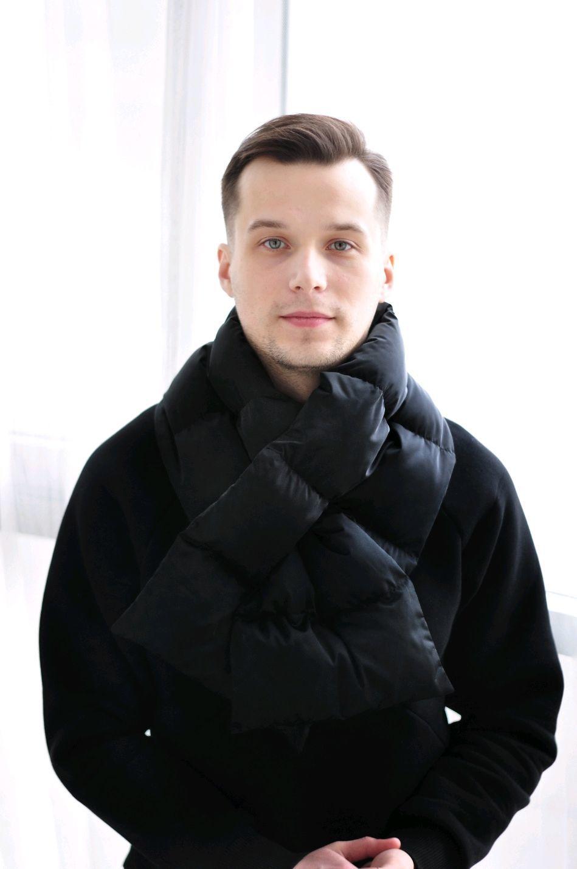 Стеганый шарф Puffy dark, Шарфы, Санкт-Петербург, Фото №1