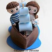"""Свадебный салон ручной работы. Ярмарка Мастеров - ручная работа Фигурки на свадебный торт """"Море любви"""". Handmade."""