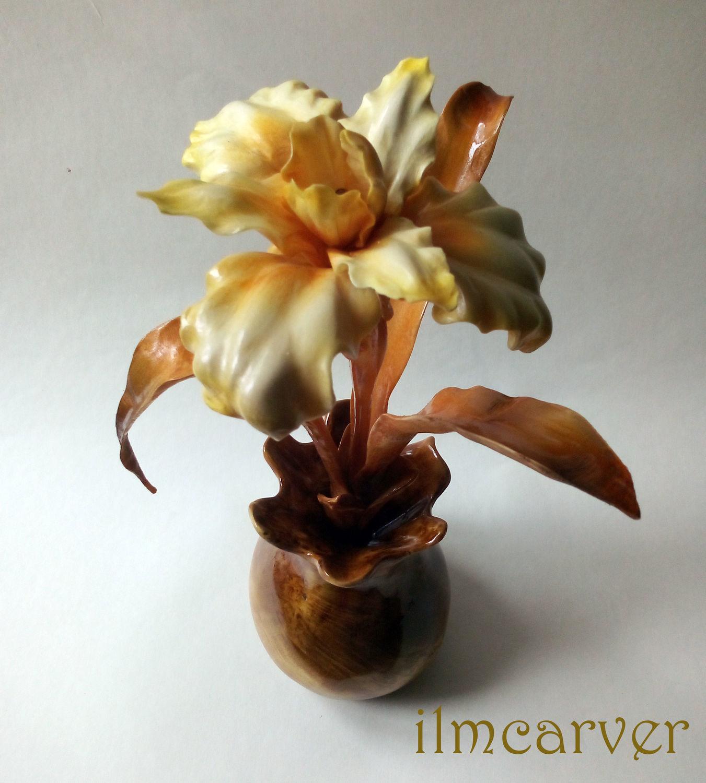 Iris, wood carving, Figurines, Elista,  Фото №1