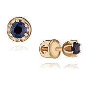 Украшения handmade. Livemaster - original item Posey gold 585 with natural sapphires. Handmade.