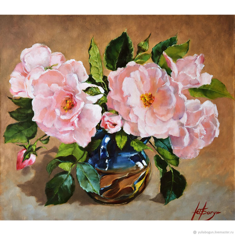 """Картина маслом """"Розовый букет"""", Картины, Белореченск,  Фото №1"""
