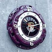 Часы классические ручной работы. Ярмарка Мастеров - ручная работа Часы Porsche из корзины сцепления. Handmade.