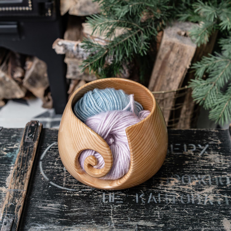 Деревянная клубочница из дерева сибирского кедра KL7, Инструменты для вязания, Новокузнецк,  Фото №1