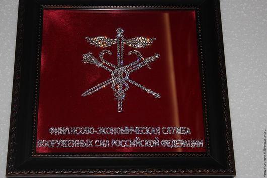 Эмблема из страз Сваровски, 25/25, подарок женщине на заказ