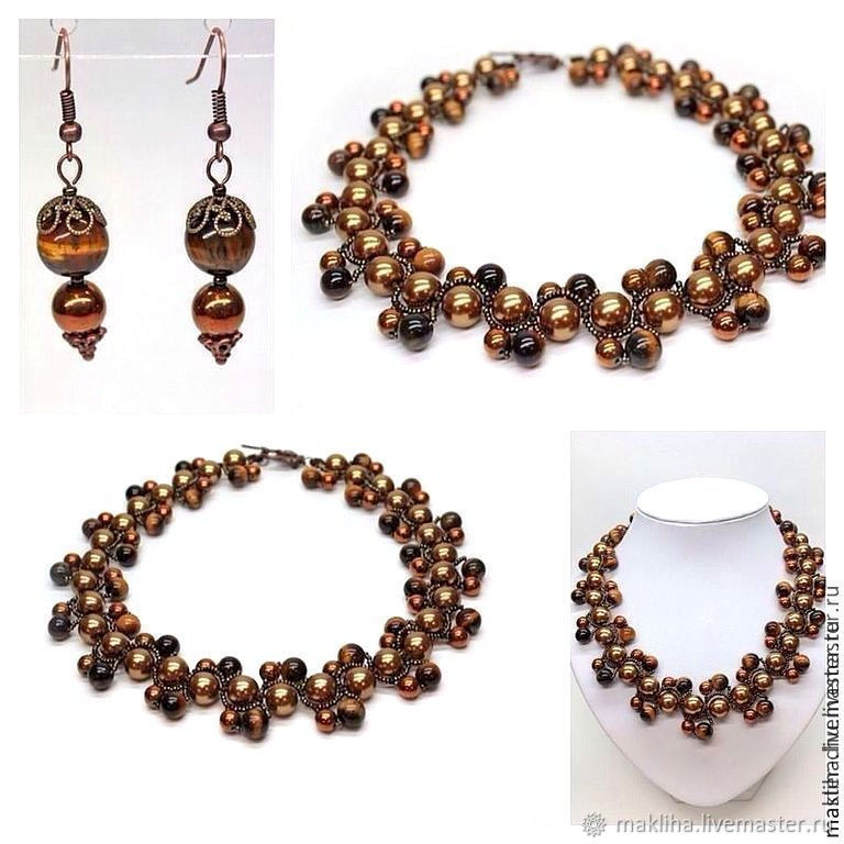 Necklace beads made of natural stones and beads, Necklace, Moscow,  Фото №1