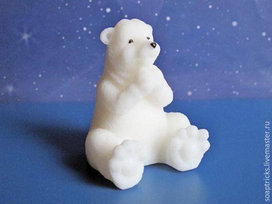 Мыло ручной работы. Ярмарка Мастеров - ручная работа. Купить Мыло Белый медведь. Handmade. Белый, зима, мыло сувенирное