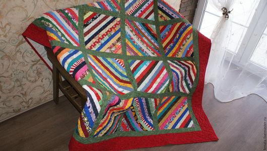 Текстиль, ковры ручной работы. Ярмарка Мастеров - ручная работа. Купить Лоскутное одеяло и две наволочки  Дачное. Handmade.