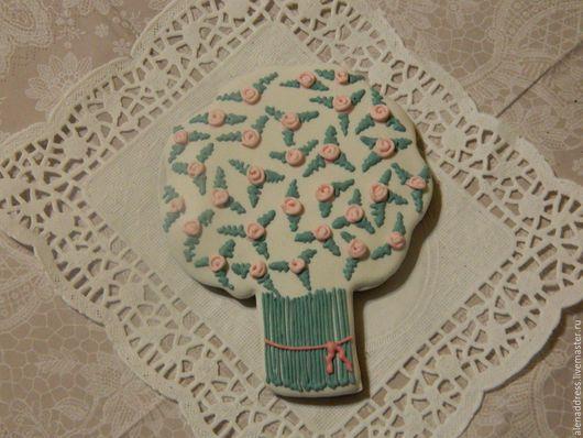 """Подарки для влюбленных ручной работы. Ярмарка Мастеров - ручная работа. Купить Пряник  козуля """"Букет цветов для любимых """". Handmade."""