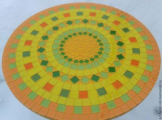 Яркий и солнечный! Жизнерадостный и позитивный! Кофейный столик с мозаикой `Мимоза`