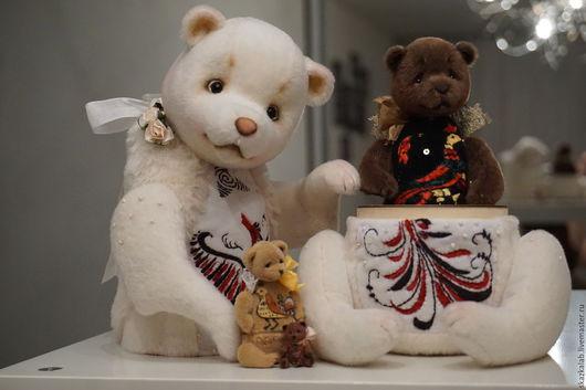Мишки Тедди ручной работы. Ярмарка Мастеров - ручная работа. Купить Мишка-Матрешка 4 в 1_Маленькая. Handmade. Комбинированный