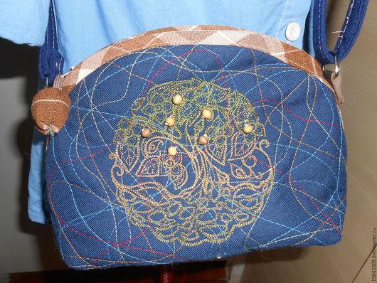 Женские сумки ручной работы. Ярмарка Мастеров - ручная работа. Купить Маленькая сумочка с вышивкой. Handmade. Тёмно-синий