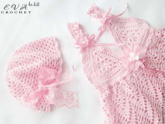 """Одежда для девочек, ручной работы. Ярмарка Мастеров - ручная работа. Купить Комплект """"Нежно-розовое облачко"""". Handmade. Розовый, девочке"""