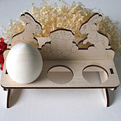 Подставка под 6 пасхальных яиц для декупажа и росписи