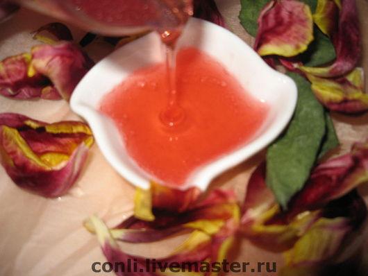 """Крем, гель, сыворотка ручной работы. Ярмарка Мастеров - ручная работа. Купить Гель для умывания """"Великолепие Розы и Орхидеи""""для нормальной. Handmade."""