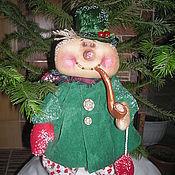 Подарки к праздникам ручной работы. Ярмарка Мастеров - ручная работа Снеговик с трубкой. Handmade.