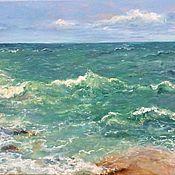 Картины и панно handmade. Livemaster - original item Oil painting seascape Turquoise sea. Handmade.