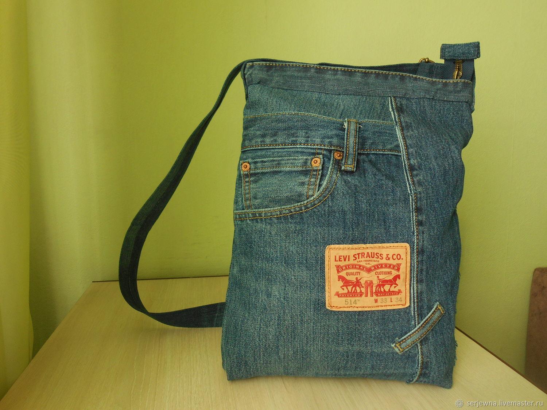 Джинсовая сумка на молнии Левис, Сумки, Дубна, Фото №1