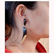 Украшения handmade. Livemaster - original item Earrings from wood