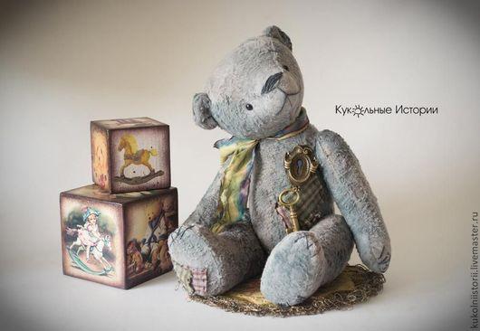 Мишки Тедди ручной работы. Ярмарка Мастеров - ручная работа. Купить Ключик от детства. Handmade. Серый, подарок на любой случай