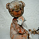 Мишки Тедди ручной работы. Миш тедди Людовик - (купить тедди, мятный, серый). ЛуКс:)) Кукольное счастье! (Ксения). Ярмарка Мастеров.