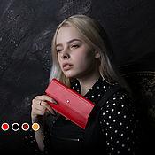 """Сумки и аксессуары handmade. Livemaster - original item Купить кошелек женский из натуральной кожи """"Flat"""" ручной работы. Handmade."""