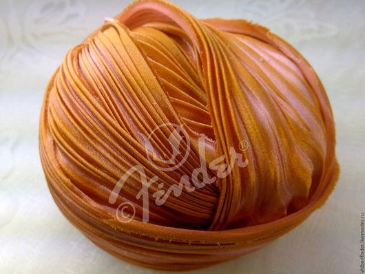 Для украшений ручной работы. Ярмарка Мастеров - ручная работа. Купить Ленты Шибори Silk Ribbons Shibori № 123 Гончарная глинка. Handmade.