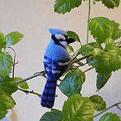 Украшения handmade. Livemaster - original item Brooch Blue Jay. Handmade.