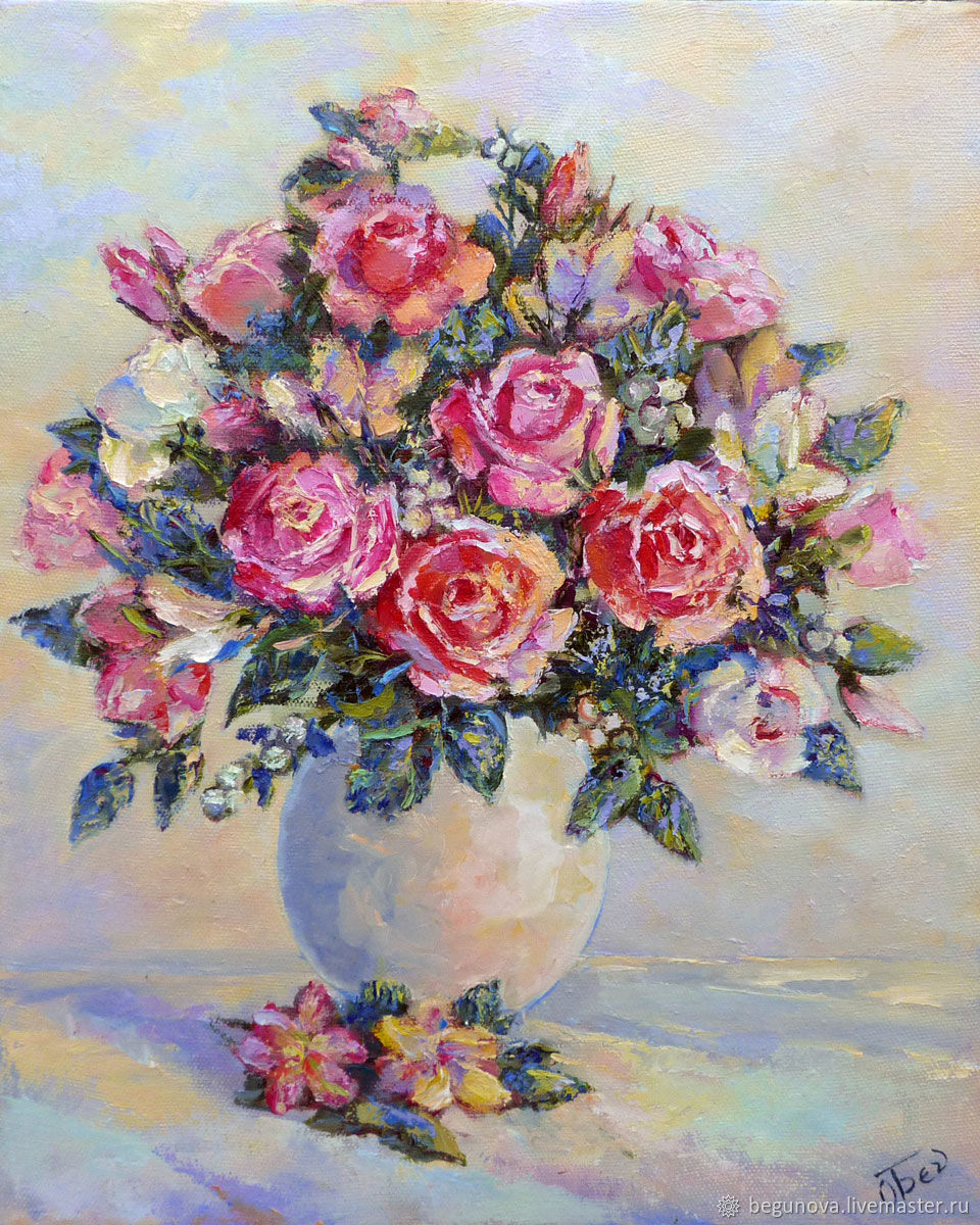 Oil painting flowers Roses, painting roses, painting roses – shop ...